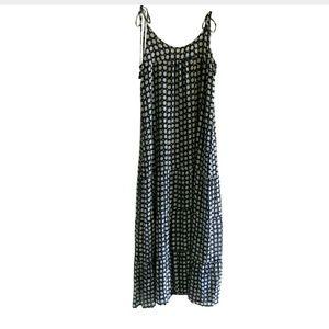 FIGUE Brielle Trimmed Polka-Dot Silk Dress